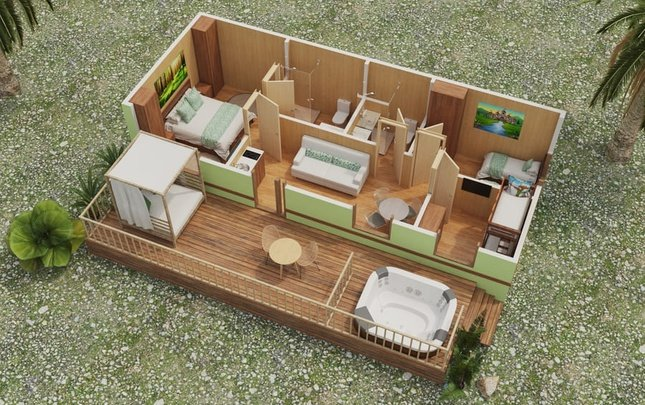 'lion heart' 3 bedrooms premium lodge magic robin hood holiday park alfaz del pi