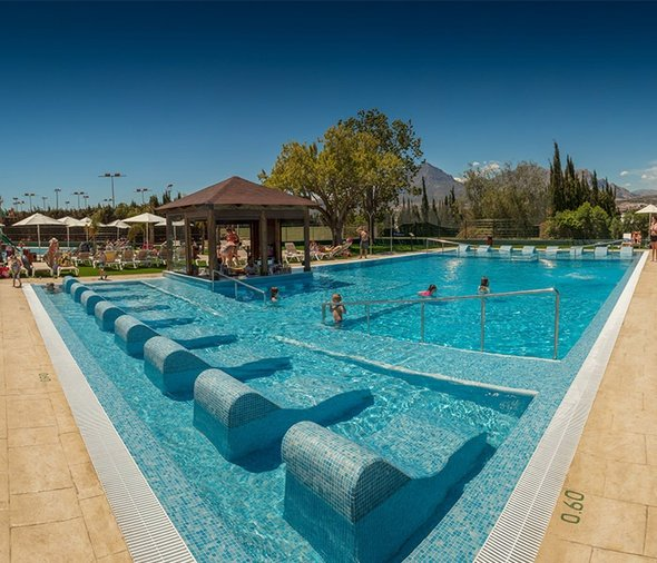 Locksley's lagoon pool magic robin hood holiday park alfaz del pi