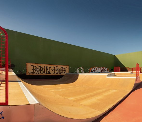 Brand new skatepark magic robin hood holiday park alfaz del pi